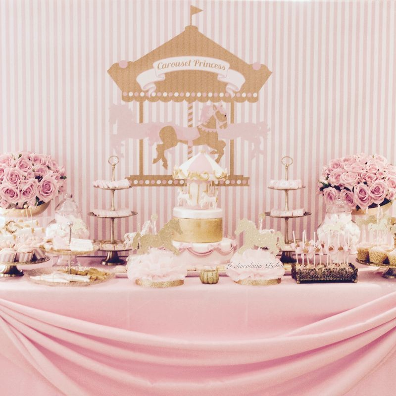 Baby Girl Dessert Tables